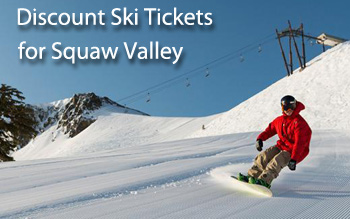 squaw  valley ski resort discount ski tickets and by owner lodging